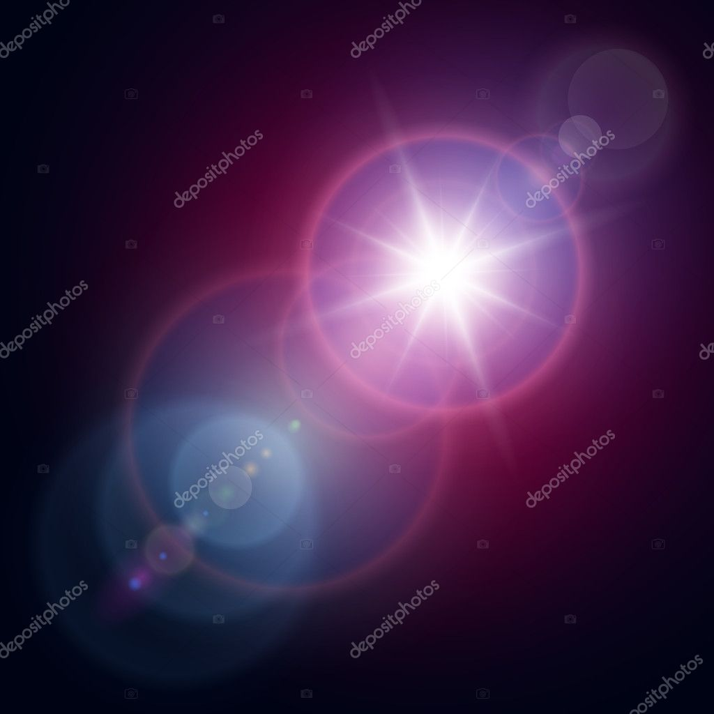 Vector star, sun with lens flare. — Stock Vector #14870579