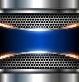Elegant metallic background — Stock Vector