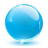 3d crystal küre — Stok Vektör