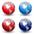 Earth globes — Stock Vector #16863691