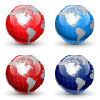 Stock Vector: Earth globes