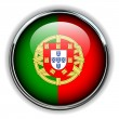 Portugal button — Stock Vector
