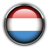 Luxembourg button — Stock Vector