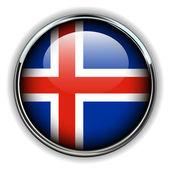 Iceland button — Stock Vector
