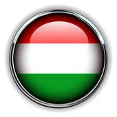 Hungary button — Stock Vector