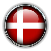 Denmark button — Stock Vector