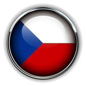 Czech Republic button — Stock Vector