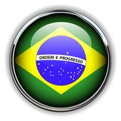 Brazil button — Stock Vector