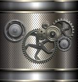 Metallisk, teknik bakgrund — Stockvektor