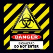 Biohazard danger sign - Stock Vector