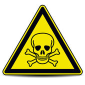 Skull danger sign — Stock Vector