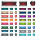 Aqua Web buttons set — Stock Vector #2026824