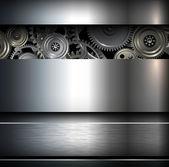 Fond métallique — Vecteur