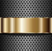 Background metallic — Stock Vector