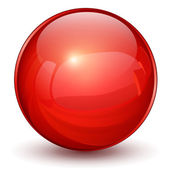 Red sphere — Stock Vector