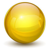 Gold sphere — Stock Vector