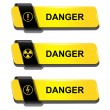 Stock Vector: Danger buttons
