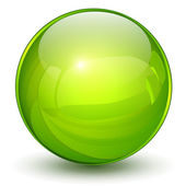 Green sphere — Stock Vector
