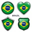 Stock Vector: Brazil icons
