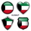 Kuwait icons — Stock Vector