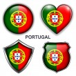 Vector de stock : Portugal icons
