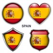 Spain, spanish  icons — Stock Vector