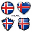 Iceland icons — Stockvectorbeeld