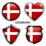 Denmark icons — Stock Vector