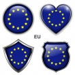 EU icons — Stock Vector