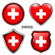 Swiss icons — Stock Vector #26837495