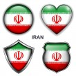 Stock Vector: Iran icons