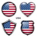 USA icons — Stock Vector #26837597