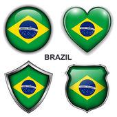 Icônes du brésil — Vecteur