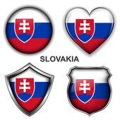 Slovakia icons — Stock Vector