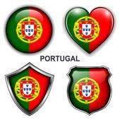 Icônes de portugal — Vecteur