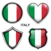 Italië pictogrammen — Stockvector