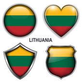 Icônes de lituanie — Vecteur