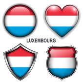 Luxembourg icons — Stock Vector