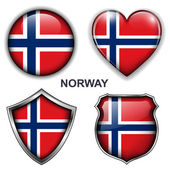 Norway icons — Stock Vector