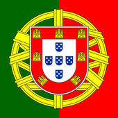 Portugal coat of arms — Stock Vector