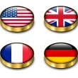 3D flags button — Imagen vectorial