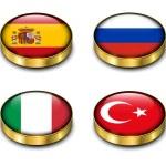 3D flags button — Stock Vector #29303163