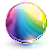 3D crystal sphere — Stock Vector