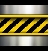 Background with warning stripes — ストックベクタ
