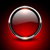 Shiny button  — Stock Vector