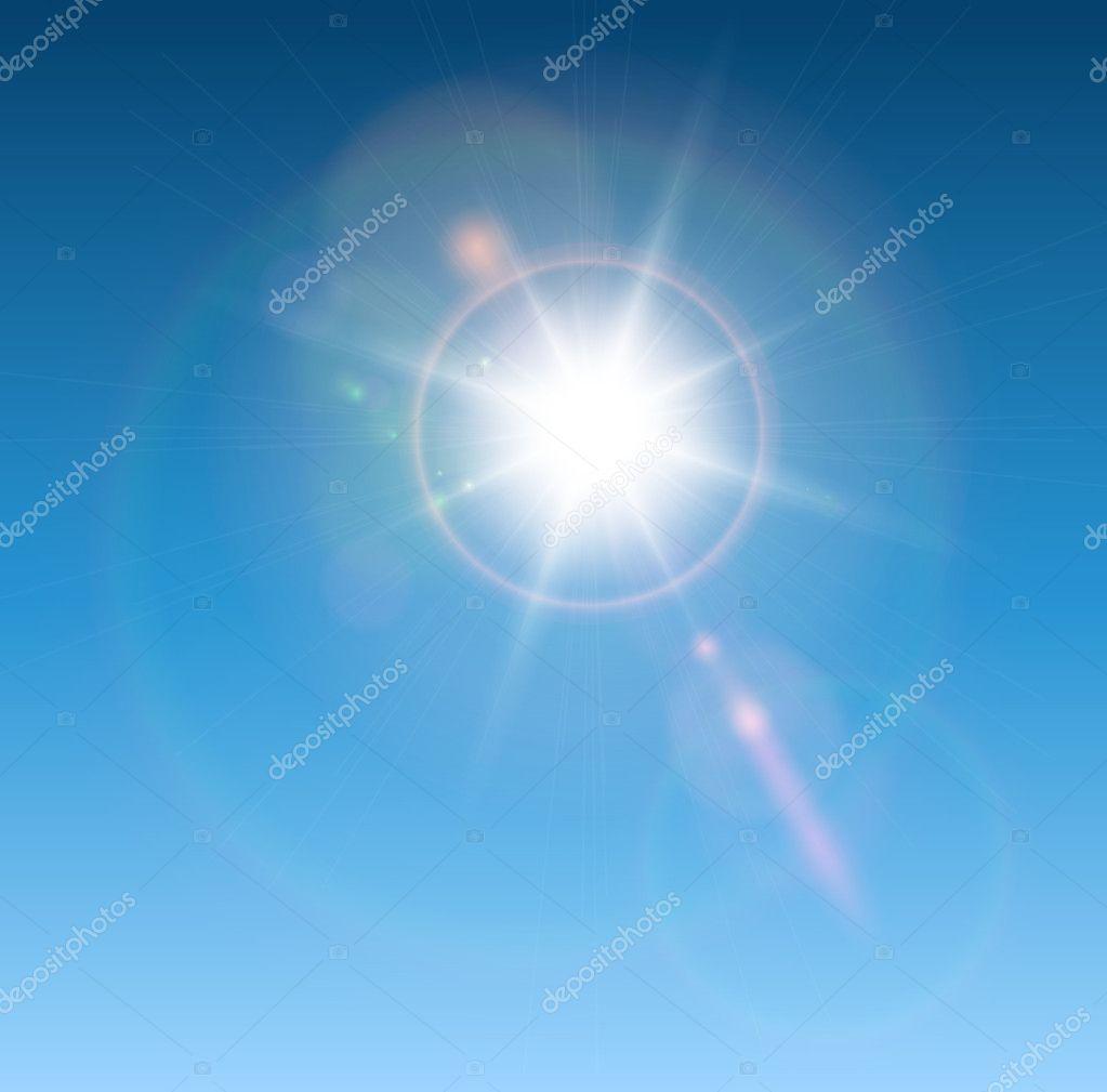 太阳与镜头光晕 — 图库矢量图片 #8390281