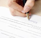 Firma del contrato — Foto de Stock