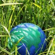 Royalty-Free Stock Photo: Globe in the grass