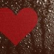 Heart and water drops — Stock Photo