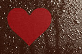 Hjärta och vatten droppar — Stockfoto